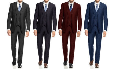 Mdrn Uomo Men S Suit 3 Piece Groupon Goods
