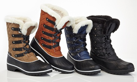 Snow Tec Women's Snow Boots with Waterproof Outsole