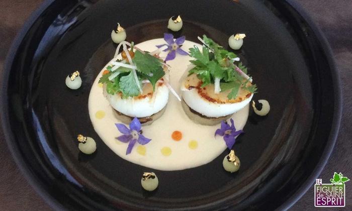Repas étoilé en 2, 3 ou 6 mets pour 2 convives, dès 62,90 € au restaurant le Figuier de Saint-Esprit