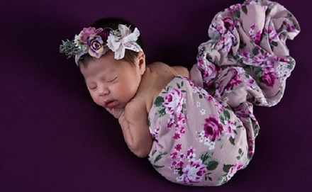 Newborn and One-Year-Old Photo Sessions at Dreamy Baby Studios (Up to 74% Off). Three Options Available.
