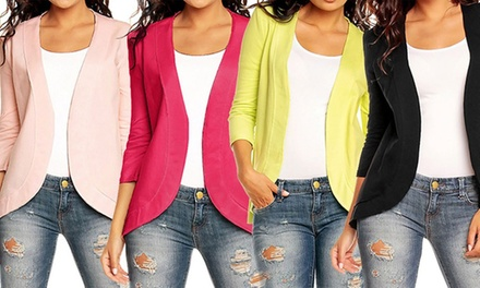 Casual Cotton Jersey Blazer