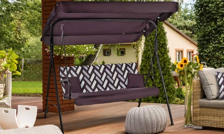 balancelle de jardin 3 places homekraft shadowline plus 2 couleurs au choix france deals. Black Bedroom Furniture Sets. Home Design Ideas