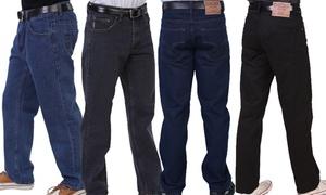 Men's 5-Pocket Straight Leg Fit Washed Jeans