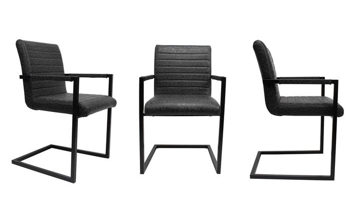 jusqu 39 51 chaises industrielle kubis groupon. Black Bedroom Furniture Sets. Home Design Ideas
