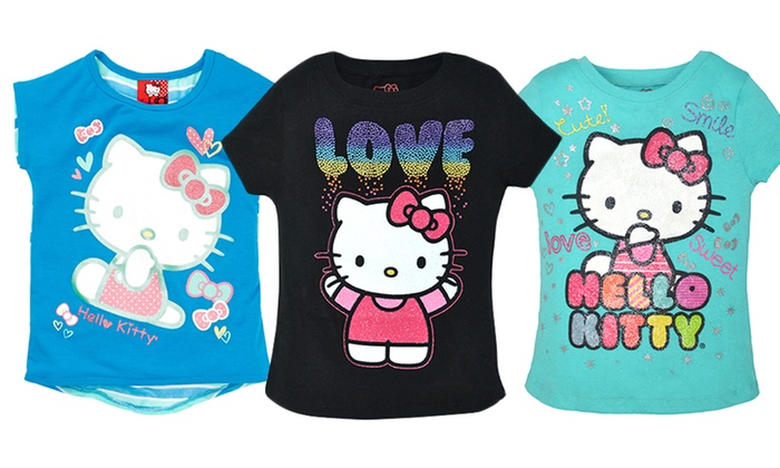 Hello kitty kids 39 tees groupon goods for Hello kitty t shirt design