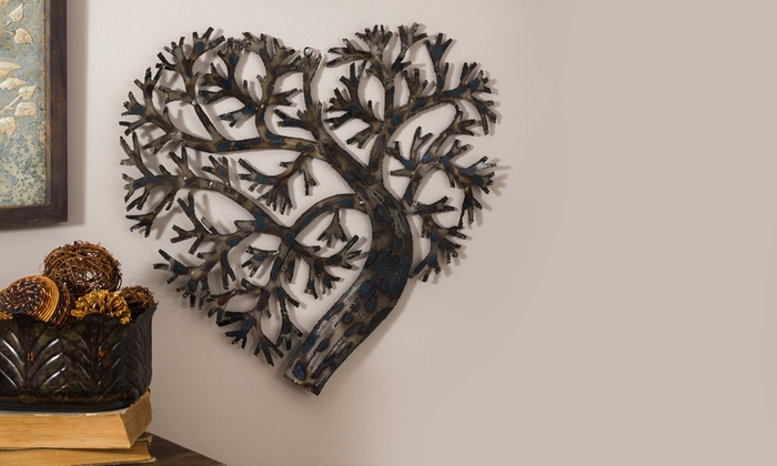 Heart Shaped Tree Of Life Metal Wall Decor Groupon
