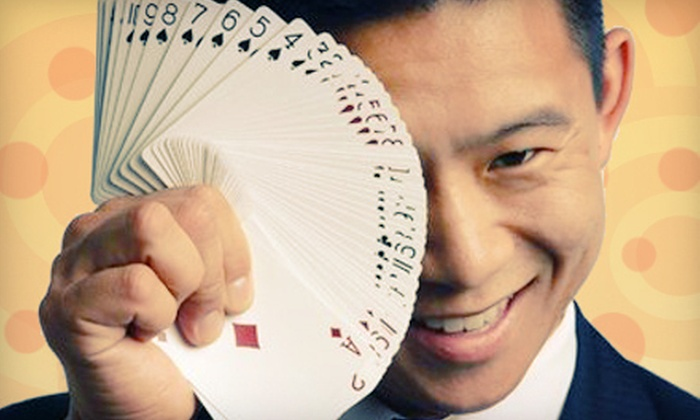 Dinner and a Magic Show for Two, Four, or Eight from Dan Chan Magic Man (Up to 57% Off). Three Locations Available.