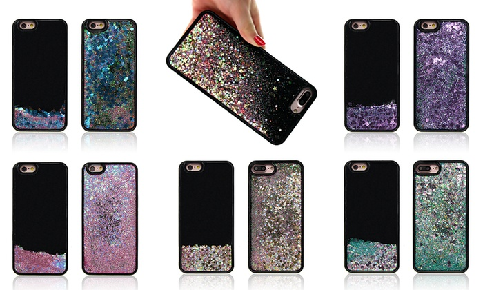 iphone 8 case black glitter