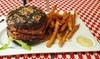 Burger, frites et dessert pour 1 ou 2 personnes