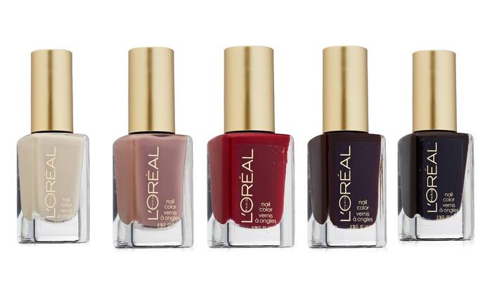 L'Oréal Nail Polish (5-Pack) | Groupon Goods