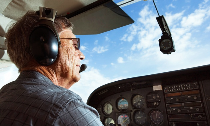 Noble AirVentures LLC - Fitchburg: Half-Hour Scenic Flight for Two or Two-Hour Intro Flight Experience for One from Noble AirVentures LLC (Up to 62% Off)