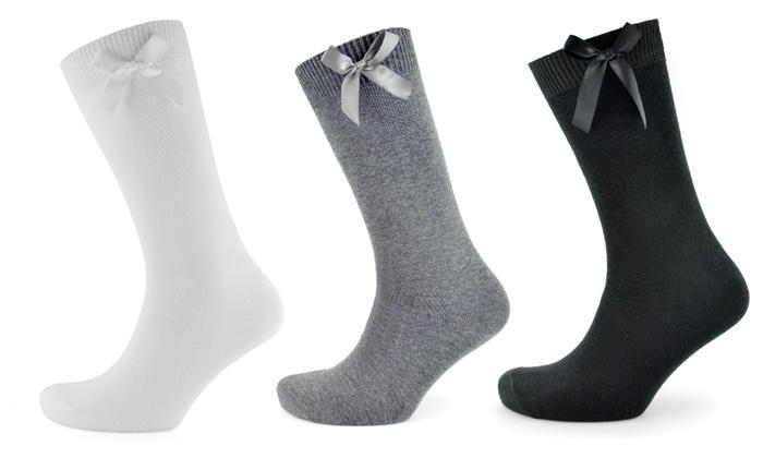One or Three Pairs of Kids' Knee-High Socks