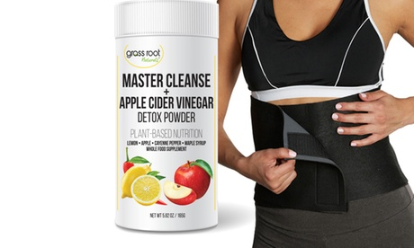Master Cleanse & Apple Cider Vinegar Powder with Waist Slimming Belt