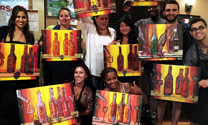 Paint Party Night - Las Vegas: Up to 49% Off Two-Hour Painting Party with Supplies for One or Two  at Paint Party Night