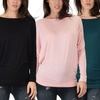 Lyss Loo Long-Sleeve Women's Tunic Top. Plus Size Available.