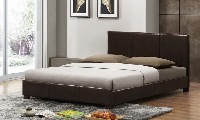 Modern Upholstered Platform Bed Groupon Goods