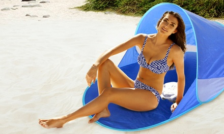 Stuoia spiaggia con parasole pop-up