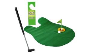 Jeu de golf miniature pour les toilettes