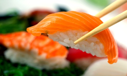 Sushi and Japanese Cuisine at Sukura Sushi (Up to 50% Off). Four Options Available.