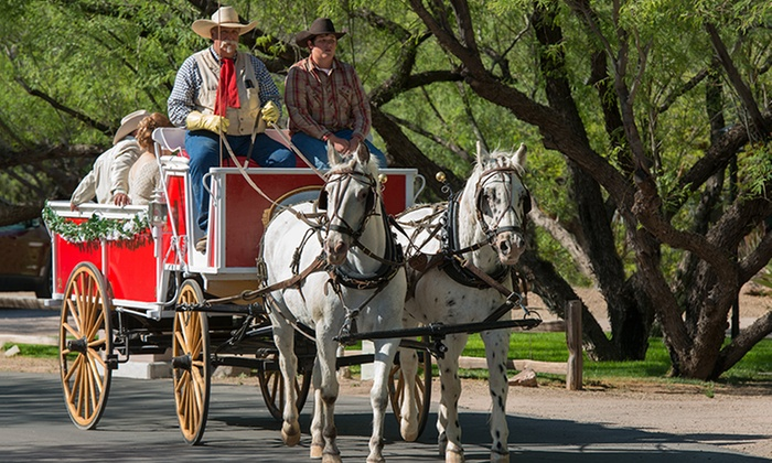 "Lazy D Rockin"" P Ranch Wagons & Teams - Downtown Wickenburg, Ortega Parking Lot (behind Anita's): Horse-Drawn Carriage Tour for Two, Four, or Six from Lazy D Rockin' P Ranch Wagons & Teams (Up to 49% Off)"