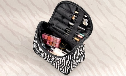 Women's Zebra-Printed Zipped Cosmetic Pouch for £3.95 (87% Off)