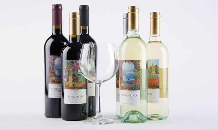 Barclays Wine : Six Bottles of Red and White Italian Wines with Shipping Included from Barclays Wine (67% Off)