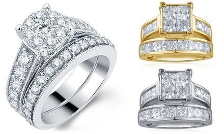 2.50-3.00 CTTW Diamond Bridal Sets in 14K Gold