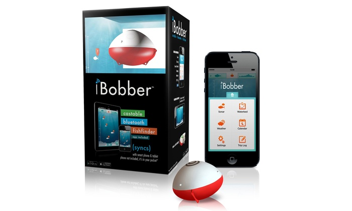 Up to 31 off ibobber bluetooth fish finder groupon for Castable fish finder