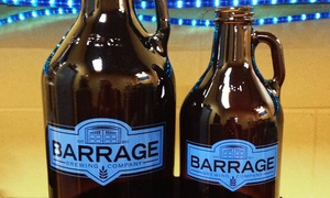 Barrage Brewing: Brewery Tasting and Growler for Two or Four at Barrage Brewing (Up to 40% Off)