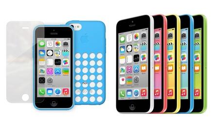 iPhone 5C reconditionné Grade A, coque Originale Apple et Protecteur en Verre trempé, garantie 1 an et Livraison offerte