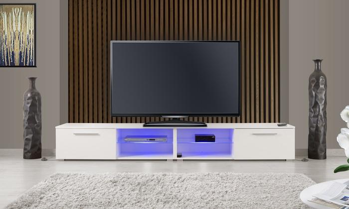 meuble tv iowa led 240 cm groupon shopping