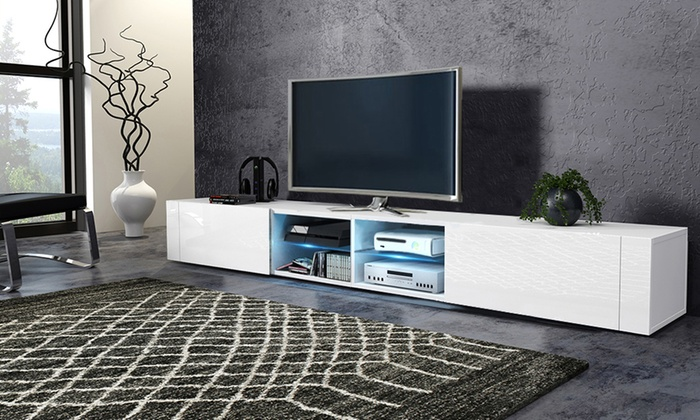 meuble tv l gant avec led en option groupon shopping. Black Bedroom Furniture Sets. Home Design Ideas