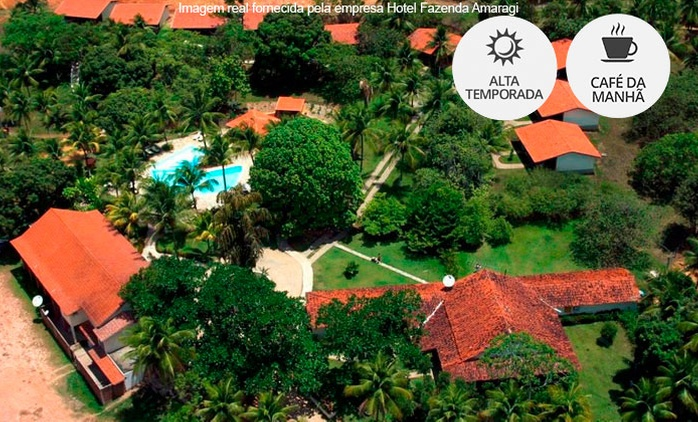 Rio Formoso/PE: 1, 2, 3 ou 5 noites para 2 + café da manhã (opções em feriados) no Hotel Fazenda Amaragi