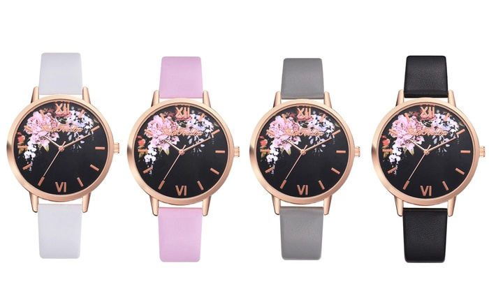 Flower Pattern Quartz Wrist Watch from £14.99