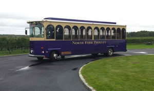 North Fork Trolley Company: Trolley Tour of Three Wineries for Two People from North Fork Trolley Company (52% Off)