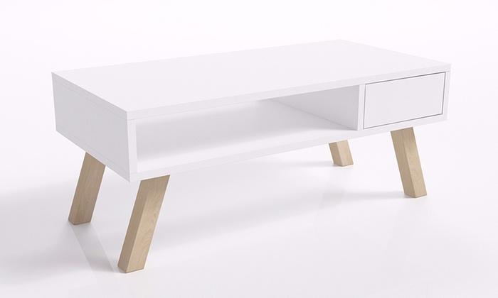 Jusqu 39 53 table basse en bois groupon for Groupon table basse