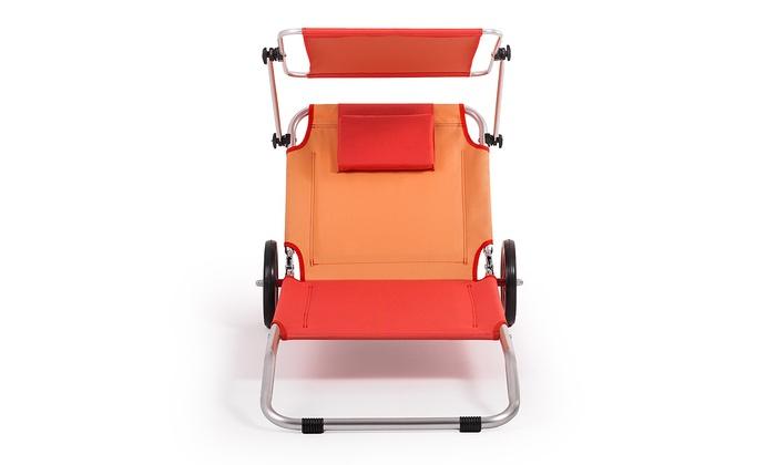 homekraft strandliege mit rollen groupon goods. Black Bedroom Furniture Sets. Home Design Ideas