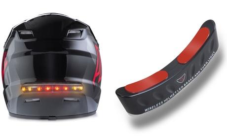 1 o 2 luces de freno inalámbricas para el casco de la moto