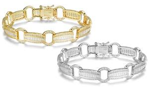 Elegant Baguette Link Tennis Bracelets Made with Swarovski Elements