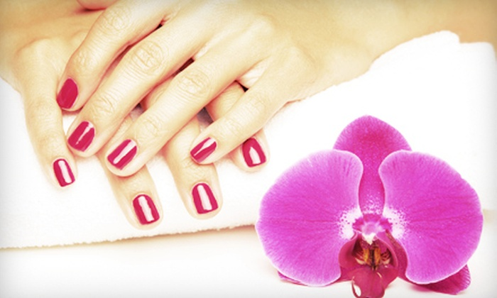 Chez Beaute' Salon and Spa - Folsom: One or Three Shellac or Gel Manicures with Spa Pedicures at Chez Beauté Salon and Spa (Up to 59% Off)