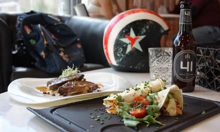 Menú para 2 o 4 con entrante, ensalada, principal, postre y bebida desde 22,90 € en 41 Gastro