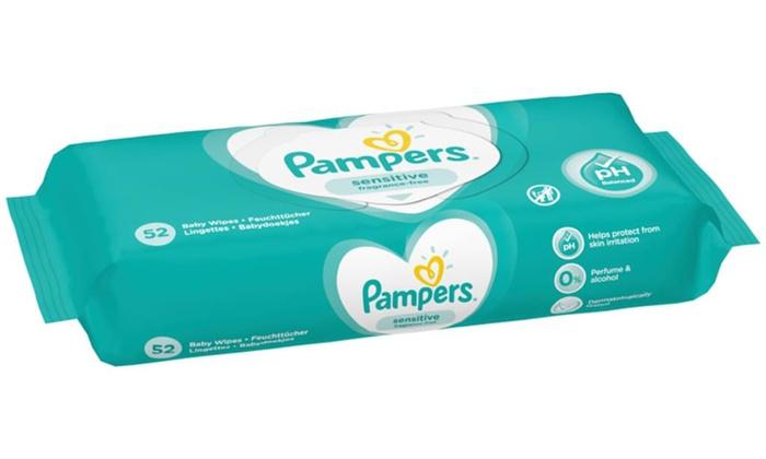 Pampers Sensitive Lingettes B/éb/é 12/Paquets/=/624/Lingettes