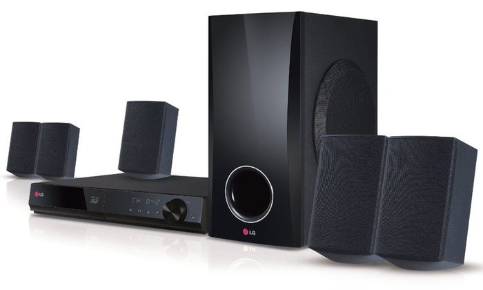 LG 5 1-Channel Blu-ray Home Theater System with Smart TV Apps (Refurbished)
