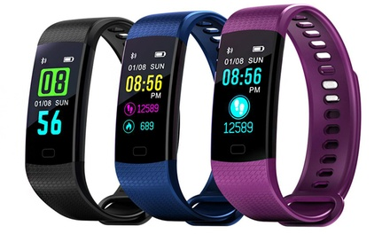 Colour Screen Waterproof Fitness Tracker with Blood Pressure and HR Monitor: One ($29.95) or Two ($54.95)
