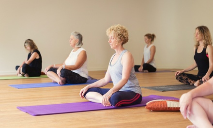 Five $35 or Ten $59 Passes for InSync Yoga Classes at InSync Body, Mind, Life Up to $185 Value