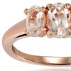 1/2 CTTW Morganite Ring in 18K Rose Gold Plated Silver