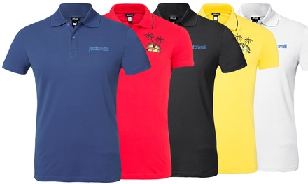 Polos homme Just Cavalli 100% coton, modèle, coloris et taille au choix