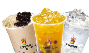 COMEBUY: $12 for Five Vouchers for Bubble Tea/ Coffee/ Drinks  at COMEBUY (45% Off)