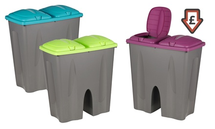 Double Recycling Waste Bin in Choice of Colour from £14.99