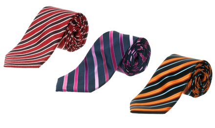 Republic Men's Patterned Woven Microfiber Tie. Multiple Styles Available.
